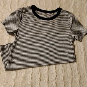 Size small black/white stripped tee